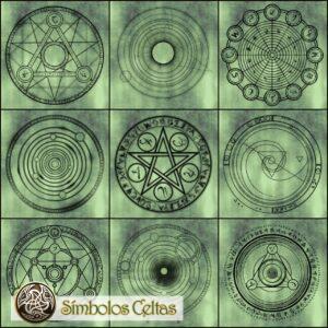 Símbolos de alquimia elemental