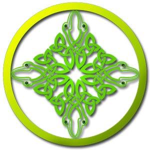 Mandala con significado de nudo celta
