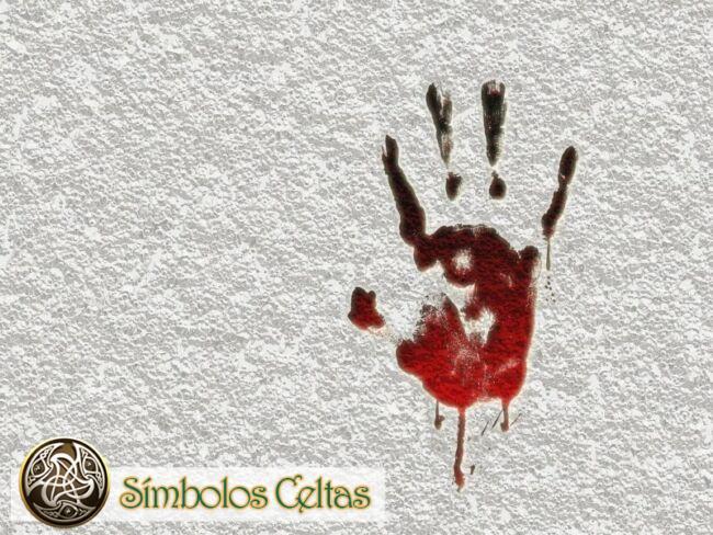 Símbolo de la mano impresa