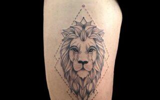 Tatuaje de un león