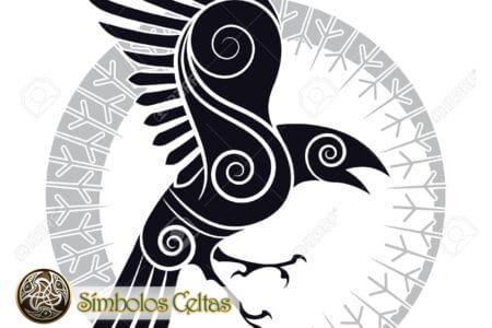 Tatuaje del Cuervo Celta